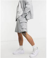 Nike Club - Pantaloncini cargo grigi - Grigio