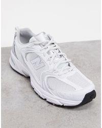 New Balance Белые Кроссовки С Эффектом Металлик 530-белый