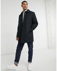 ASOS Shower Resistant Single Breasted Trench Coat - Black