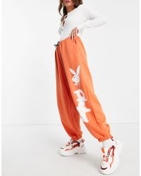 Missguided Playboy Oversized Trackies - Orange