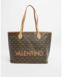 Valentino By Mario Valentino Liuto - Grand tote bag avec logo multicolore - Marron