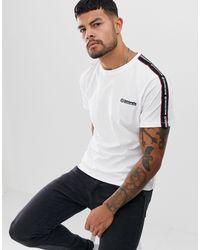 Lambretta T-shirt à bandes - Blanc