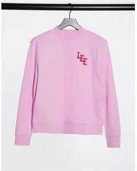 Lee Jeans Lee High Neck Logo Sweatshirt - Pink