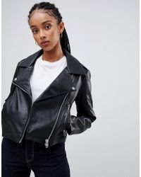 ASOS - Ultimate Leather Look Biker Jacket - Lyst
