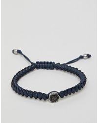 DIESEL Bracelet homme effet corde en acier inoxydable - Noir
