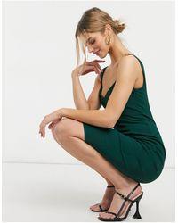 Vesper Зеленое Облегающее Платье Миди -зеленый