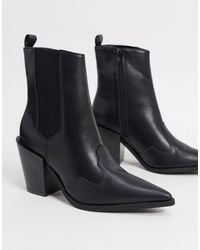Truffle Collection Bottes style western - Noir