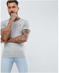 Religion Roll Sleeve Logo T-shirt - Grey