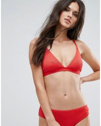 Warehouse - Textured Triangle Bikini Top - Lyst