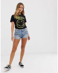 Wrangler Pantaloncini di jeans boyfriend - Blu