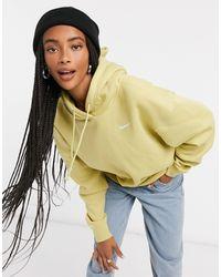 Nike Mini Swoosh Oversized Hoodie - Green