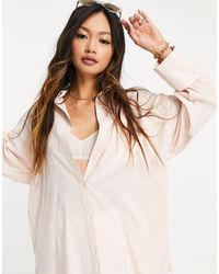 ASOS - Long-sleeved Oversized Dad Shirt - Lyst