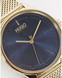 HUGO Золотистые Часы С Сетчатым Браслетом 1530178-золотой - Многоцветный