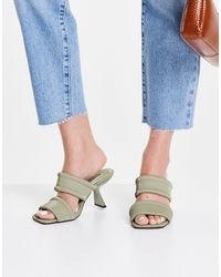 TOPSHOP Nessy Padded Mule - Green