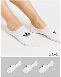 adidas Originals Набор Из 3 Пар Белых Носков -белый