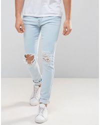 Dr. Denim - Leroy Ripped Super Skinny Jeans - Lyst