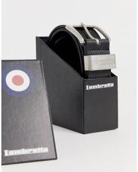 Lambretta Coffret ceinture en cuir - Noir