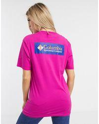 Columbia North Cascades Back Print T-shirt - Pink