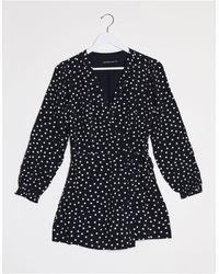 Abercrombie & Fitch Wrap Dress - Black
