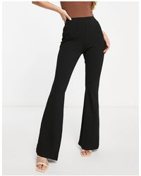 ASOS Hourglass Jersey Slim Kick Flare Suit Trouser - Black