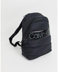 Calvin Klein Mochila acolchada negra con logo - Negro