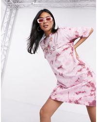 Missguided Oversized T-shirt Dress - Pink