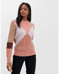 Y.A.S - Color Block Knit Sweater - Lyst