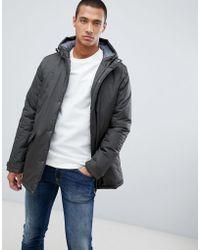 Threadbare Hooded Parka Jacket - Green