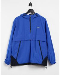 Lacoste Unisex Live Water-resistant Pullover Windbreaker - Blue