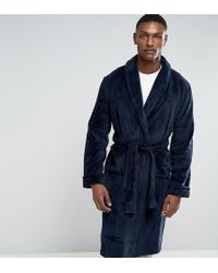 French Connection - Tall Fleece Dressing Gown - Lyst