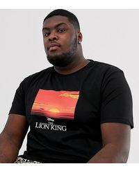 ASOS Plus - The Lion King - Ruimvallend T-shirt - Zwart
