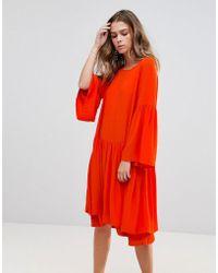 Just Female Garner Layered Dress - Orange