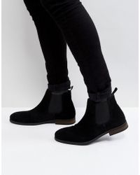 Call It Spring - Andler Suede Chelsea Boots In Black - Lyst