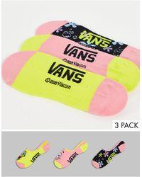 Vans Набор Из 3 Пар Разноцветных Носков X Spongebob Best Buddies-multi - Многоцветный
