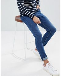 Weekday Form Powell Blue Super Skinny Jeans