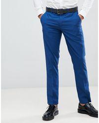 Farah Henderson Slim Fit Suit Trousers - Blue