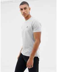 Another Influence - Muscle Fit Stretch Long Line Curved Hem Logo T-shirt - Lyst