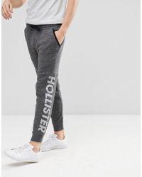 Hollister - Sports Camo Logo Insert Fleece Cuffed Jogger In Grey - Lyst