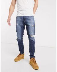 Bershka Smaltoelopende Jeans - Blauw