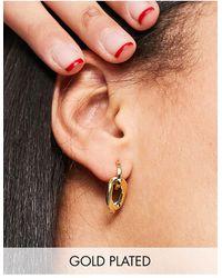 Orelia Chain Link Earrings - Metallic