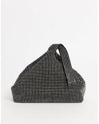 Glamorous Black Mini Rhinestone Grab Bag