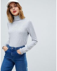 Esprit - Roll Neck Knitted Jumper - Lyst