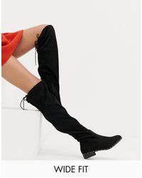 New Look Черные Ботфорты Для Широкой Стопы New Look-черный