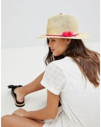 8d9c94a93649b French Connection Oversized Fedora Hat in Black - Lyst