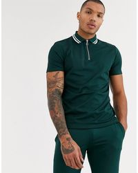ASOS - Co-ord Polo Shirt With Zip Neck - Lyst