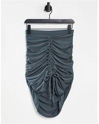 Club L London Ruched Mini Skirt - Purple