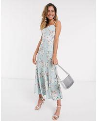 Forever New Платье Миди Мятного Цвета С Цветочным Принтом -мульти - Многоцветный