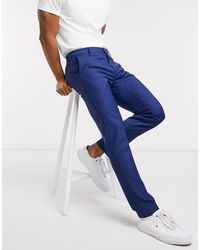 Tommy Hilfiger Micro Design Slim Fit Suit Trousers - Blue