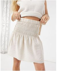 Y.A.S Shirred Mini Skirt Co-ord - Pink