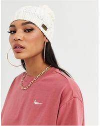 Nike Kleurige Beanie Met Pompon - Naturel